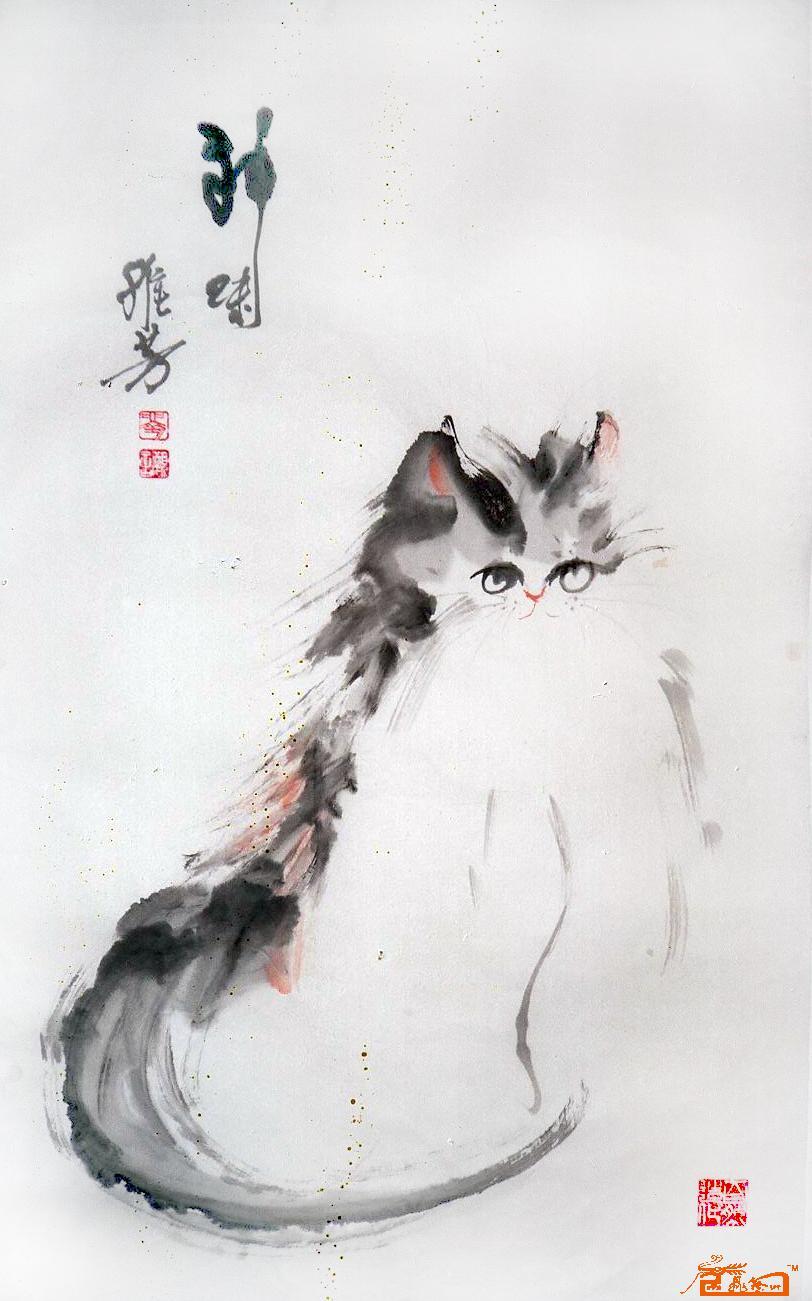 猫咪41-刘维芳-淘宝-名人字画-中国书画服务中心